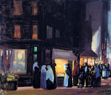 Bleeker and Carmine Streets - George Luks