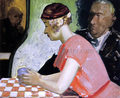 Cafe Scene - a Study of a Young Woman