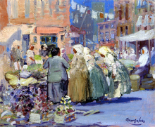 A Spring Morning, Houston and Division Streets, New York - George Luks