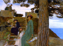 A Picnic at Portofino 1911 - George Spencer Watson
