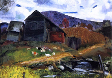 Old Barn in Shady Valley - George Wesley Bellows