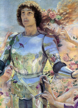 The Knight of the Flowers [detail: left]