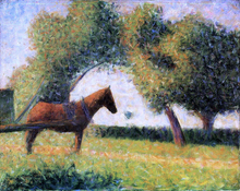 Horse and Cart - Georges Seurat