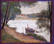 The Seine at La Grande Jatte in the Spring