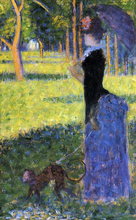 A Woman with a Monkey - Georges Seurat
