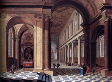 Interior of an Imaginary Catholic Church in Classical Style