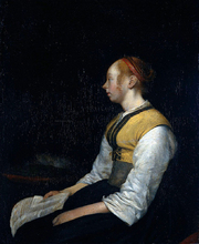 Girl in Peasant Costume. Probably Gesina, the Painter's Half-Sister
