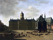 Amsterdam: View of the Dam with the Town Hall - Gerrit Adriaensz Berckheyde