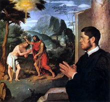 The Baptism of Christ with a Donor - Giovanni Battista Moroni