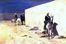 In vedetta (also known as Il muro bianco) - Giovanni Fattori