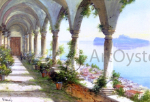A Colonnade overlooking the Isle of Capri