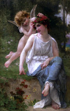 Cupid Adoring a Young Maiden