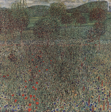 Blooming Field - Gustav Klimt