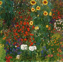 A Farm Garden with Sunflowers