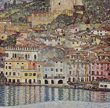 A Scene of Malcesine on Lake Garda