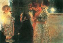 Schubert at the Piano II - Gustav Klimt