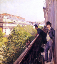 A Balcony - Gustave Caillebotte