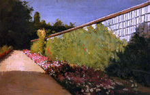 The Wall of the Kitchen Garden, Yerres - Gustave Caillebotte