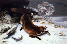 Fox in the Snow - Gustave Courbet