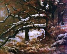 Remise de Cerfs - Gustave Courbet