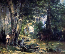 A Shelter of the Roe Deer at the Stream of Plaisir-Fontaine, Doubs - Gustave Courbet