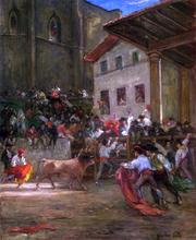 El Picador con el Toro - Gustave Henri Colin