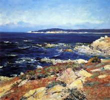 A Carmel Seascape - Guy Orlando Rose