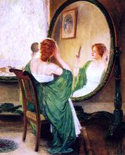A Green Mirror - Guy Orlando Rose