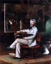 The Artist Munkaczy in his Studio