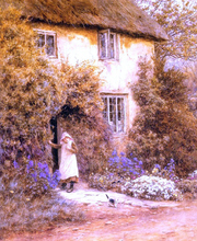 A Cottage Door - Helen Allingham