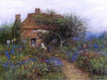 A Cottage near Brook, Witley, Surrey - Helen Allingham