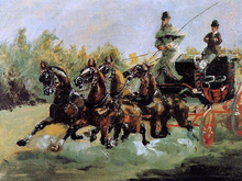 Alphonse de Toulouse-Lautrec Driving His Four-in-Hand