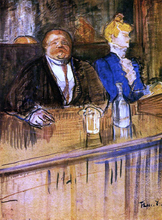 At the Cafe: The Customer and the Anemic Cashier - Henri De Toulouse-Lautrec