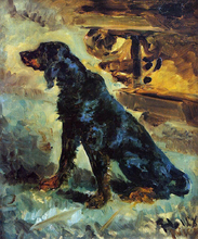 Dun, a Gordon Setter Belonging to Comte Alphonse de Toulouse-Lautrec
