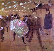 Le Goulue Dancing with Valentin-le-Desosse - Henri De Toulouse-Lautrec