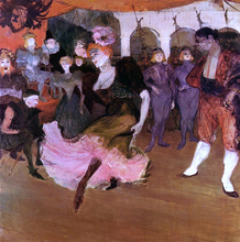 Marcelle Lender Dancing in the Bolero in 'Chilperic' - Henri De Toulouse-Lautrec