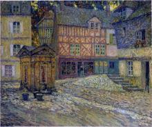 Place de Puits en Honfleur - Henri Le Sidaner