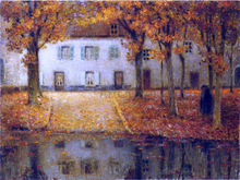 Small House by the Eau River at Chartres - Henri Le Sidaner