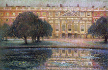 Summer Afternoon at the palace of Hampton Court - Henri Le Sidaner
