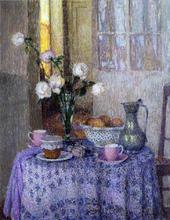 A Table in an Interior - Henri Le Sidaner