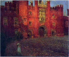The Great Gate at Hampton Court - Henri Le Sidaner