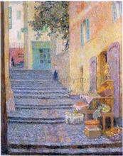An Italian Boutique - Henri Le Sidaner
