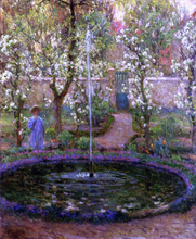 A Jet of Water - Henri Le Sidaner