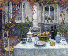 A Small Table - Henri Le Sidaner