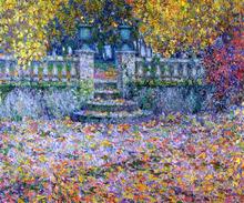 A Terrace, Autumn, Gerberoy - Henri Le Sidaner