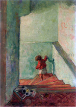 A Child on the Stairs - Henri Lebasque