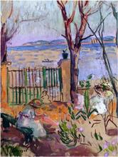 Garden by the Sea in St Tropez - Henri Lebasque