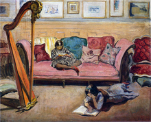 An Interior with Harp - Henri Lebasque