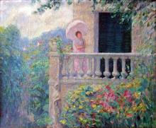 A Lady on the Balcony - Henri Lebasque