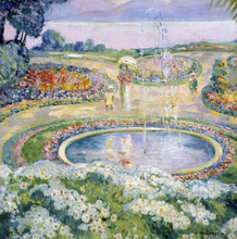 Mother and Child by a Fountain - Henri Lebasque